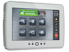 DSC TouchScreen Security Interface
